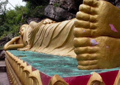 Wat Tham Phousi, Luang Prabang, Laos - reclining Buddha