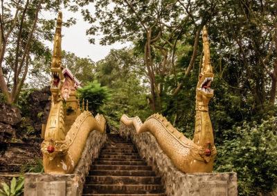 Wat Tham Phousi, Luang Prabang, Laos - dragon stairs
