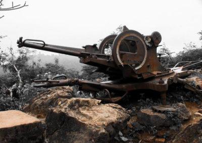 Wat Tham Phousi, Luang Prabang, Laos - old war tank